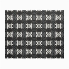 Black White Gray Crosses Small Glasses Cloth by yoursparklingshop