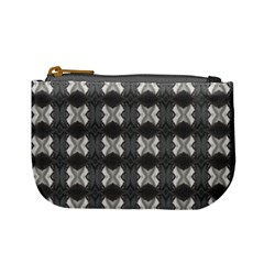Black White Gray Crosses Mini Coin Purses by yoursparklingshop