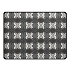 Black White Gray Crosses Fleece Blanket (small) by yoursparklingshop