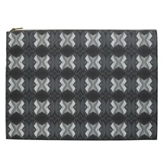 Black White Gray Crosses Cosmetic Bag (xxl)  by yoursparklingshop