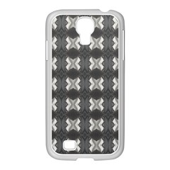 Black White Gray Crosses Samsung Galaxy S4 I9500/ I9505 Case (white) by yoursparklingshop