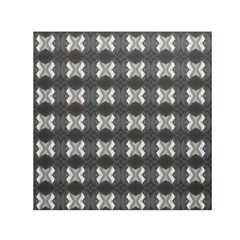 Black White Gray Crosses Small Satin Scarf (square) by yoursparklingshop
