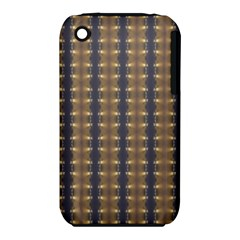 Black Brown Gold Stripes Apple Iphone 3g/3gs Hardshell Case (pc+silicone) by yoursparklingshop