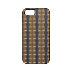 Black Brown Gold Stripes Apple Iphone 5 Classic Hardshell Case (pc+silicone) by yoursparklingshop