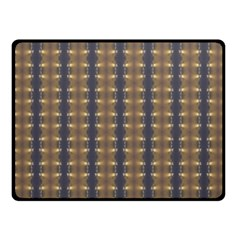 Black Brown Gold Stripes Double Sided Fleece Blanket (Small)  by yoursparklingshop