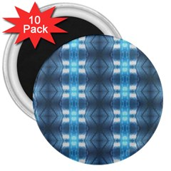 Blue Diamonds Of The Sea 1 3  Magnets (10 Pack)