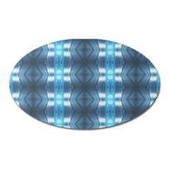 Blue Diamonds Of The Sea 1 Oval Magnet by yoursparklingshop