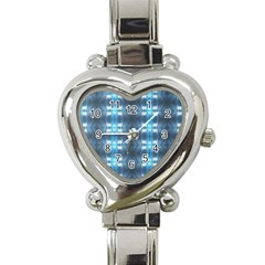 Blue Diamonds Of The Sea 1 Heart Italian Charm Watch by yoursparklingshop