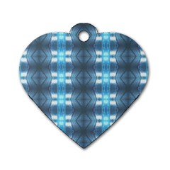 Blue Diamonds Of The Sea 1 Dog Tag Heart (two Sides) by yoursparklingshop