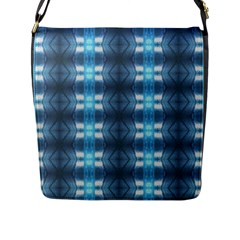 Blue Diamonds Of The Sea 1 Flap Messenger Bag (L)  by yoursparklingshop