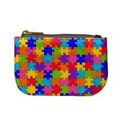 Funny Colorful Jigsaw Puzzle Mini Coin Purses by yoursparklingshop