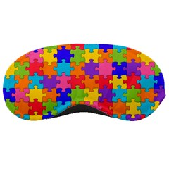 Funny Colorful Jigsaw Puzzle Sleeping Masks by yoursparklingshop