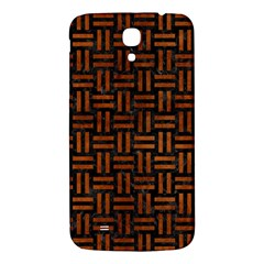 Woven1 Black Marble & Brown Burl Wood Samsung Galaxy Mega I9200 Hardshell Back Case by trendistuff