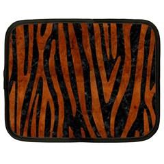 Skin4 Black Marble & Brown Burl Wood (r) Netbook Case (xxl) by trendistuff