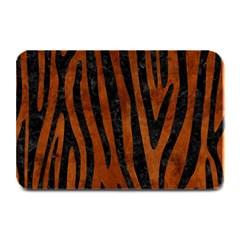 Skin4 Black Marble & Brown Burl Wood Plate Mat by trendistuff