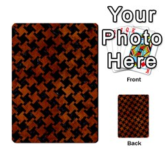 Houndstooth2 Black Marble & Brown Burl Wood Multi Purpose Cards (rectangle) by trendistuff