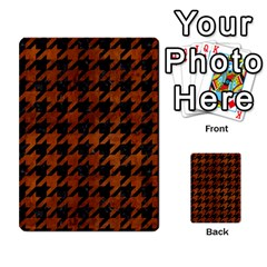 Houndstooth1 Black Marble & Brown Burl Wood Multi Purpose Cards (rectangle) by trendistuff