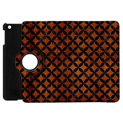 Circles3 Black Marble & Brown Burl Wood (r) Apple Ipad Mini Flip 360 Case by trendistuff