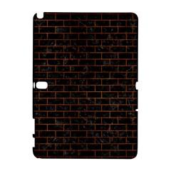 Brick1 Black Marble & Brown Burl Wood Samsung Galaxy Note 10 1 (p600) Hardshell Case by trendistuff