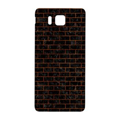 Brick1 Black Marble & Brown Burl Wood Samsung Galaxy Alpha Hardshell Back Case by trendistuff
