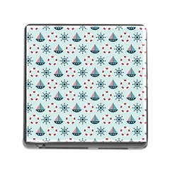Nautical Elements Pattern Memory Card Reader (square) by TastefulDesigns
