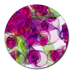 Violet Round Mousepads by SugaPlumsEmporium