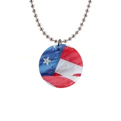 Folded American Flag Button Necklaces by StuffOrSomething