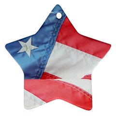 Folded American Flag Star Ornament (Two Sides)  by StuffOrSomething