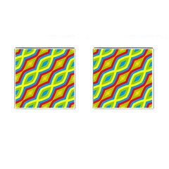 Colorful chains                    Cufflinks (Square) by LalyLauraFLM