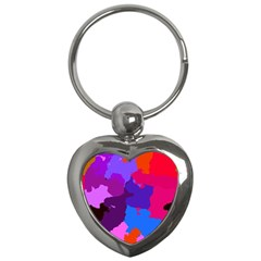 Spots                     			key Chain (heart) by LalyLauraFLM