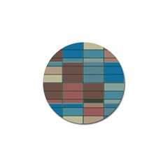 Rectangles In Retro Colors Pattern                      golf Ball Marker by LalyLauraFLM