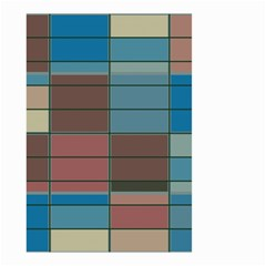 Rectangles In Retro Colors Pattern                      Small Garden Flag by LalyLauraFLM