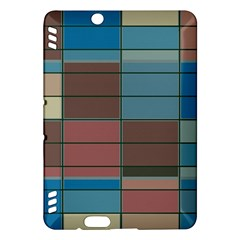 Rectangles In Retro Colors Pattern                      kindle Fire Hdx Hardshell Case by LalyLauraFLM