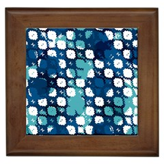 Blue Texture                       			framed Tile by LalyLauraFLM