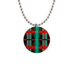 Vertical Stripes And Other Shapes                        			1  Button Necklace by LalyLauraFLM