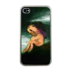 Hand Painted Lonliness Illustration Apple Iphone 4 Case (clear) by TastefulDesigns
