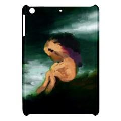 Hand Painted Lonliness Illustration Apple iPad Mini Hardshell Case by TastefulDesigns