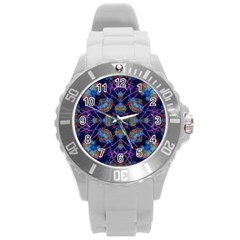Ornate Mosaic Round Plastic Sport Watch (l) by dflcprints