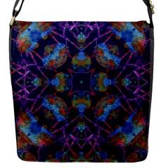 Ornate Mosaic Flap Messenger Bag (s) by dflcprints