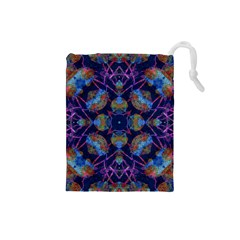 Ornate Mosaic Drawstring Pouches (small)  by dflcprints