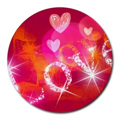 Love Round Mousepads by SugaPlumsEmporium