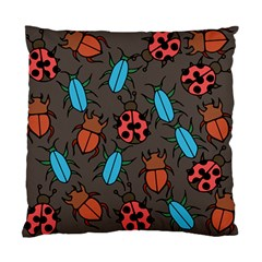 Beetles And Ladybug Pattern Bug Lover  Standard Cushion Case (two Sides) by BubbSnugg