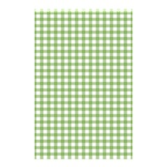 Avocado Green Gingham Classic Traditional Pattern Shower Curtain 48  X 72  (small)  by CircusValleyMall
