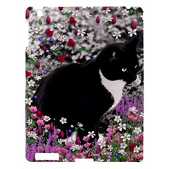 Freckles In Flowers Ii, Black White Tux Cat Apple Ipad 3/4 Hardshell Case by DianeClancy