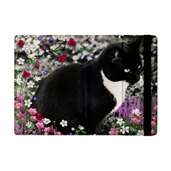 Freckles In Flowers Ii, Black White Tux Cat Apple Ipad Mini Flip Case by DianeClancy