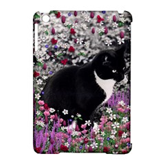 Freckles In Flowers Ii, Black White Tux Cat Apple Ipad Mini Hardshell Case (compatible With Smart Cover) by DianeClancy