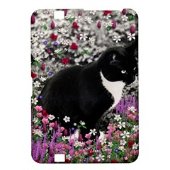 Freckles In Flowers Ii, Black White Tux Cat Kindle Fire Hd 8 9  by DianeClancy
