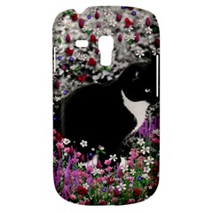 Freckles In Flowers Ii, Black White Tux Cat Samsung Galaxy S3 Mini I8190 Hardshell Case by DianeClancy