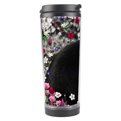 Freckles In Flowers Ii, Black White Tux Cat Travel Tumbler by DianeClancy