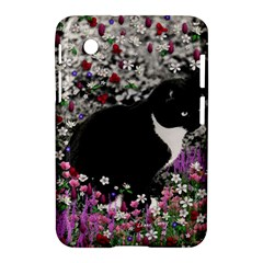 Freckles In Flowers Ii, Black White Tux Cat Samsung Galaxy Tab 2 (7 ) P3100 Hardshell Case  by DianeClancy